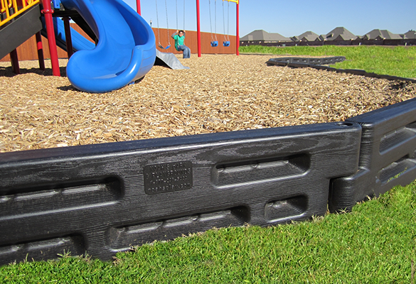 Solid Plastic Landscape Timbers : By plastic playground borders diamond safety concepts