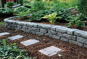 Rock Lock Garden Wall Plastic Border Retaining Playground Raised