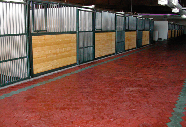 Red SofScape Rubber Pavers - Recycled Rubber Paver - Equine Flooring - Rubber Decking - Playground Surfacing -Barn Flooring