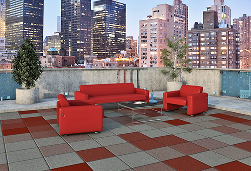 Decktop Architectural Tile Rubber Deck Tiles Diamond