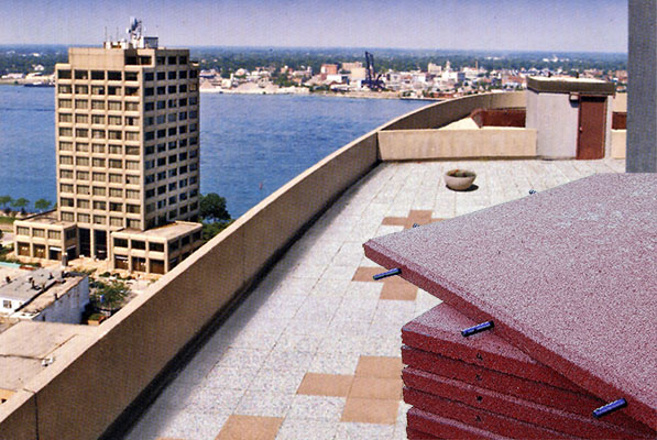 SofTile On Rooftop Deck Recycled Rubber Decking Tiles ...