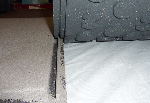 PopLock Interlocking Rubber Decking Tile Edge and Base Detail