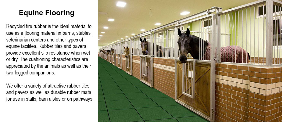 Rubber Equine Flooring and Footing - Barn Flooring