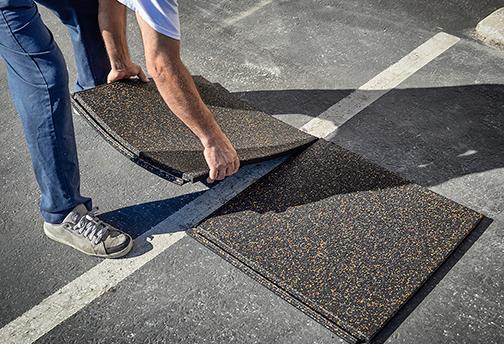 PopLock Interlocking Rubber Tiles - Installing 2 Tiles