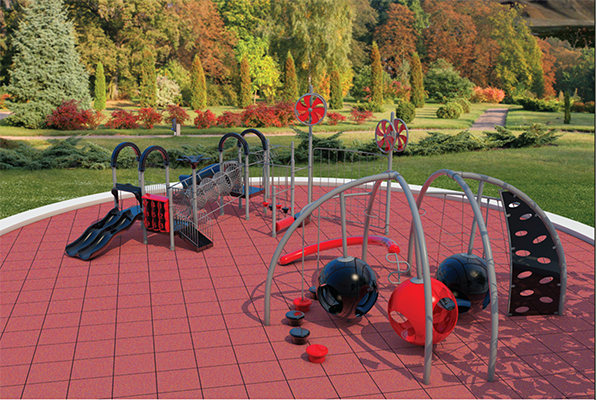 Recycled Rubber Playground Tile Surfacing
