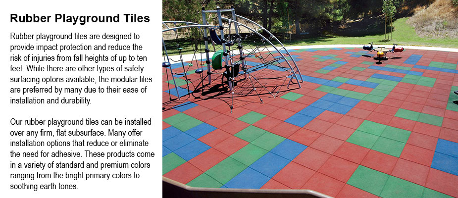 Rubber Playground Tiles - Multi-color - Playground Surfacing - Safety Tiles