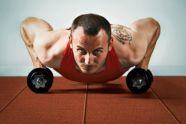 Pushups on red SportPlay
