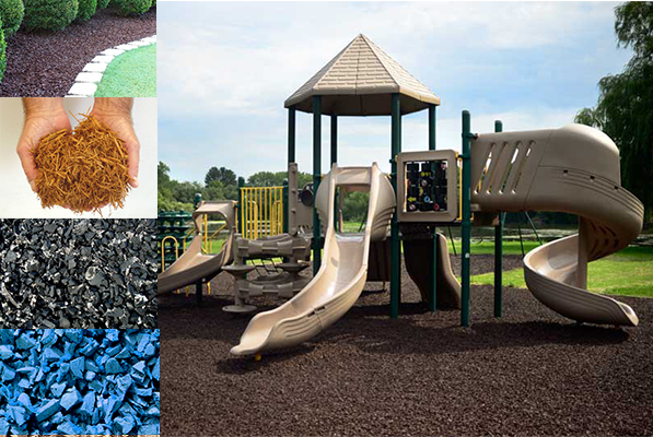Rubber Mulch Materials from Diamond Safety Concepts