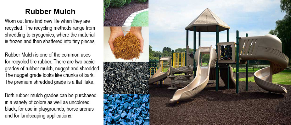 Rubber Landscape and Playground Mulch Materials from Diamond Safety Concepts