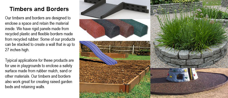 Timbers-&-Borders-slider - Rubber Playground Borders - Plastic Borders - Landscape Timbers