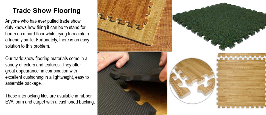 Trade Show Cushioned Flooring Tiles - Resilient Flooring