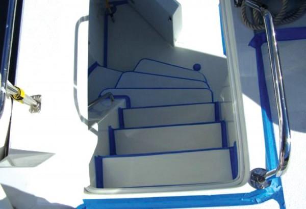 ... Ultra Tuff Anti Slip Coating Installed On Boat Steps   Rubberized  Coating   Anti ...