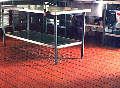 Safety Grooving in a restaurant kitchen