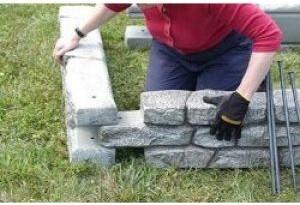 Rock Lock Embly Plastic Border Retaining Wall Playground Raised Garden
