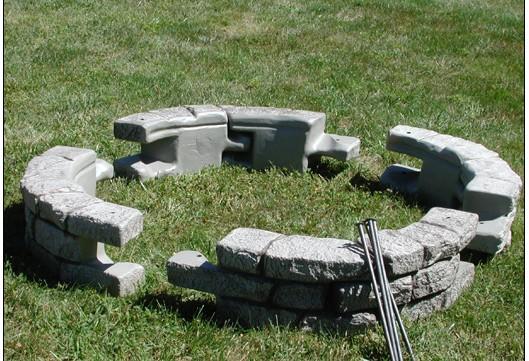 Solid Plastic Landscape Timbers : Rock lock wall system plastic retaining diamond